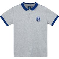 Everton Core Contrast Cuff and Collar Polo - Grey - Junior Boys