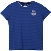 Everton Core Fine Stripe With Tipped Collar T-Shirt- Royal-Junior Boys