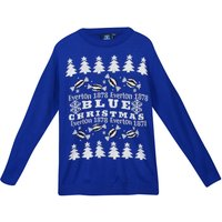Everton It's A Blue Christmas Jumper - Royal - Junior