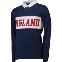 England Cut And Sew Rugby Shirt - Navy - Mens