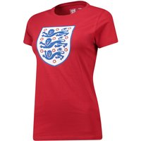 England Large Printed Crest T-Shirt - G Red - Womens