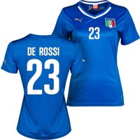 Italy Home Shirt 2013/14 - Womens with De Rossi 23 printing