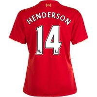 Liverpool Home Shirt 2015/16 - Womens Red with Henderson 14 printing