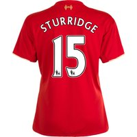 Liverpool Home Shirt 2015/16 - Womens Red with Sturridge 15 printing