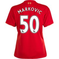 Liverpool Home Shirt 2015/16 - Womens Red with Markovic 50 printing