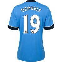Tottenham Hotspur Away Shirt 2015/16 - Womens Sky Blue with Dembele 19 printing