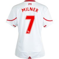 Liverpool Away Shirt 2015/16 - Womens White with Milner 7 printing
