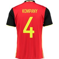 Belgium Home Shirt 2016 Red with Kompany 4 printing