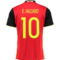 Belgium Home Shirt 2016 Red with Hazard 10 printing