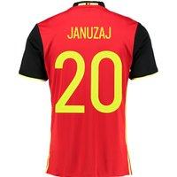 Belgium Home Shirt 2016 Red with Januzaj 20 printing