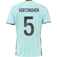Belgium Away Shirt 2016 Lt Blue with Vertonghen 5 printing