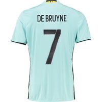 Belgium Away Shirt 2016 Lt Blue with De Bruyne 7 printing