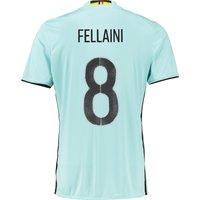 Belgium Away Shirt 2016 Lt Blue with Fellaini 8 printing