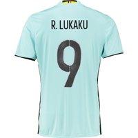 Belgium Away Shirt 2016 Lt Blue with Lukaku 9 printing