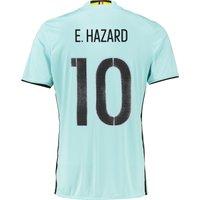 Belgium Away Shirt 2016 Lt Blue with Hazard 10 printing