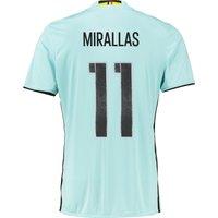 Belgium Away Shirt 2016 Lt Blue with Mirallas 11 printing