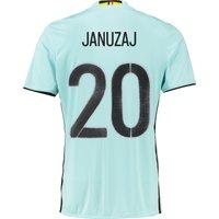 Belgium Away Shirt 2016 Lt Blue with Januzaj 20 printing