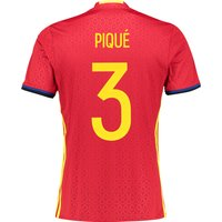 Spain Home Shirt 2016 Red with Pique 3 printing