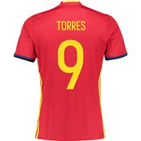 Spain Home Shirt 2016 Red with Torres 9 printing