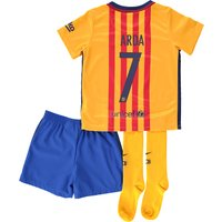 Barcelona Away Kit 2015/16 - Infants Gold with Arda 7 printing