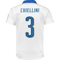 Italy Away Shirt 2016 - Kids White with Chiellini 3 printing