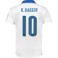 Italy Away Shirt 2016 - Kids White with Baggio 10 printing