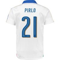 Italy Away Shirt 2016 - Kids White with Pirlo 21 printing
