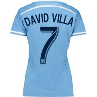 New York City FC Home Shirt 2015-16 - Womens with David Villa 7 printing