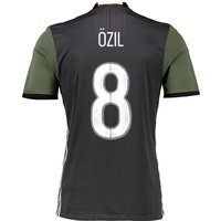 Germany Away Authentic Shirt 2016 Dk Grey with Ozil 8 printing