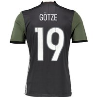 Germany Away Authentic Shirt 2016 Dk Grey with Göetze 19 printing