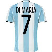 Argentina Home Shirt 2016 Lt Blue With Di Maria 7 Printing