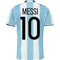 Argentina Home Shirt 2016 Lt Blue With Messi 10 Printing