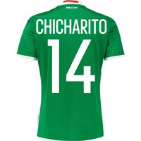 Mexico Home Shirt 2016 With Chicharito 14 Printing