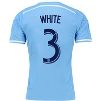 New York City FC Authentic Home Shirt 2015-16 with White 3 printing