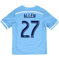 New York City FC Home Shirt 2015-16 - Kids with Allen 27 printing
