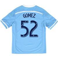New York City FC Home Shirt 2015-16 - Kids with Gomez 52 printing