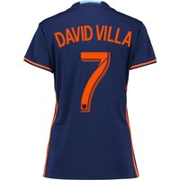 New York City FC Away Shirt 2016 - Womens with David Villa 7 printing