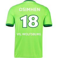 VfL Wolfsburg Home Shirt 2016-17 with Osimhen 18 printing