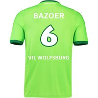 VfL Wolfsburg Home Shirt 2016-17 with Bazoer 6 printing