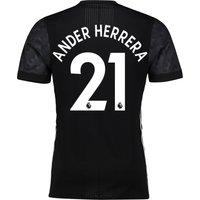 Manchester United Away Adi Zero Shirt 2017-18 with Ander Herrera 21 printing