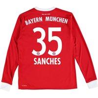 Bayern Munich Home Shirt 2017-18 - Kids - Long Sleeve with Sanches 35 printing