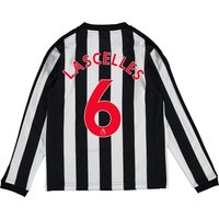 Newcastle United Home Shirt 2017-18 - Kids - Long Sleeve with Lascelles 6 printing