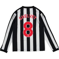Newcastle United Home Shirt 2017-18 - Kids - Long Sleeve with Shelvey 8 printing