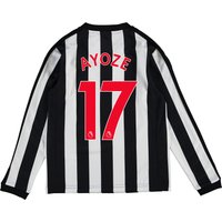 Newcastle United Home Shirt 2017-18 - Kids - Long Sleeve with Ayoze 17 printing