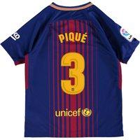 Barcelona Home Stadium Shirt 2017-18 - Kids with Piqué 3 printing