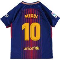Barcelona Home Stadium Shirt 2017-18 - Kids with Messi 10 printing