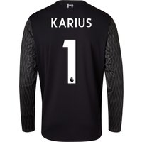 Liverpool Away Goalkeeper Shirt 2017-18 - Long Sleeve with Karius 1 printing
