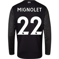 Liverpool Away Goalkeeper Shirt 2017-18 - Long Sleeve with Mignolet 22 printing
