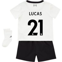 Liverpool Away Baby Kit 2017-18 with Lucas 21 printing
