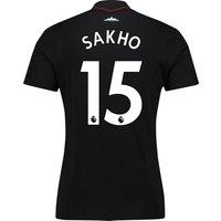 West Ham United Away Shirt 2017-18 - Kids with Sakho 15 printing